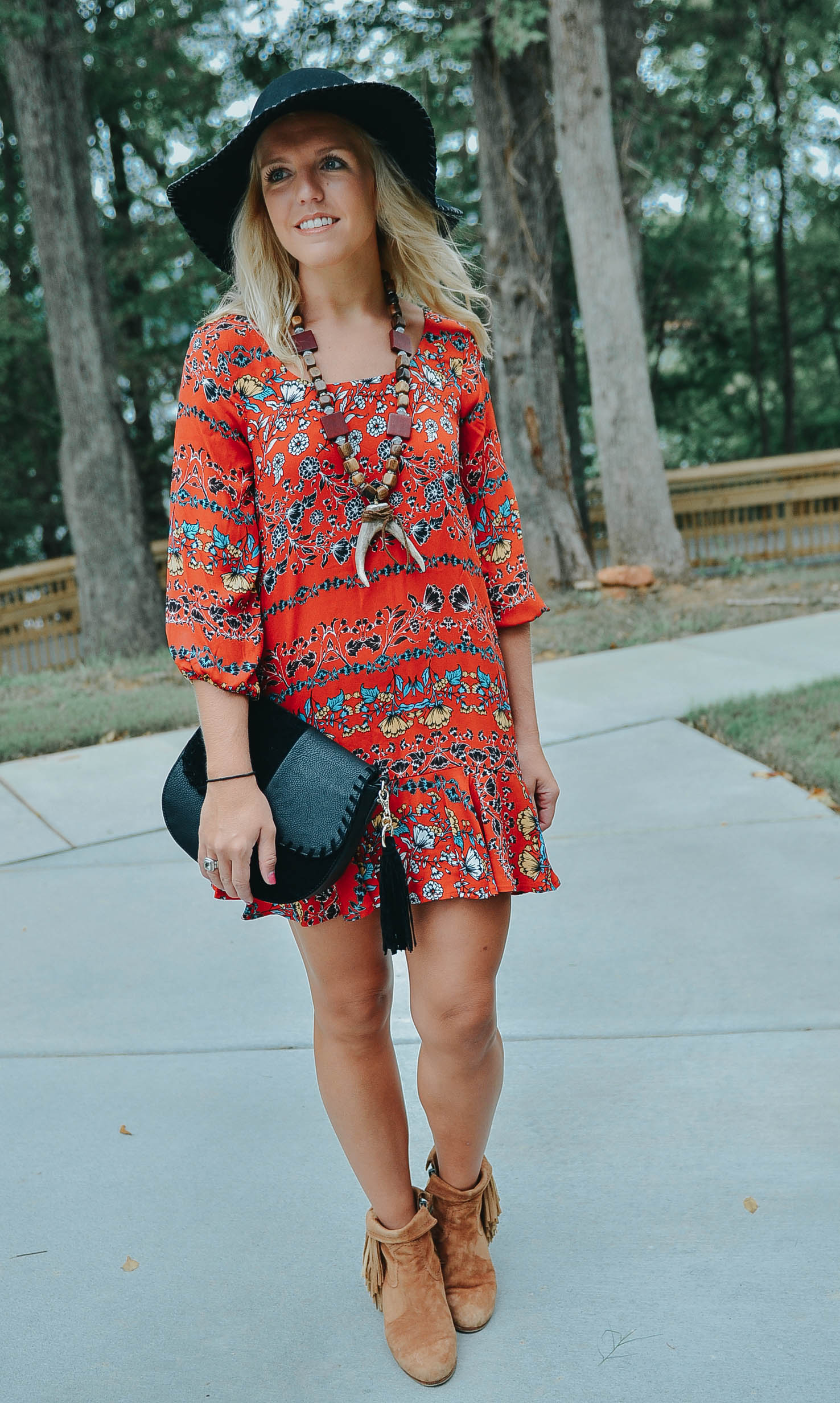 Floral Dress Look