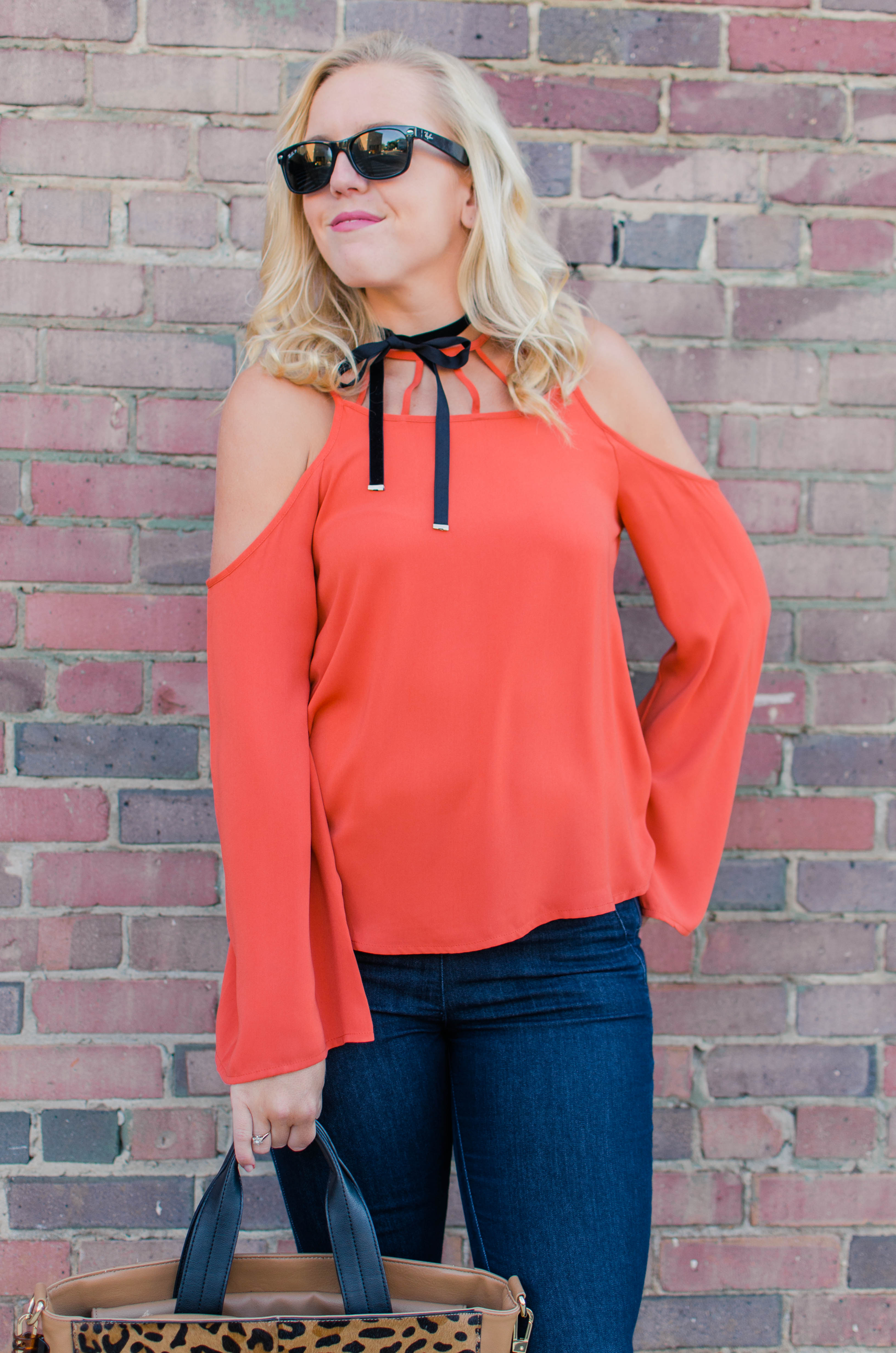 Cold Shoulder Top and Choker