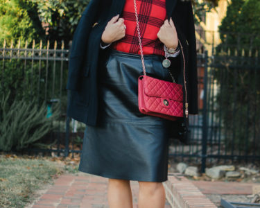 Plaid sweater lace up boots