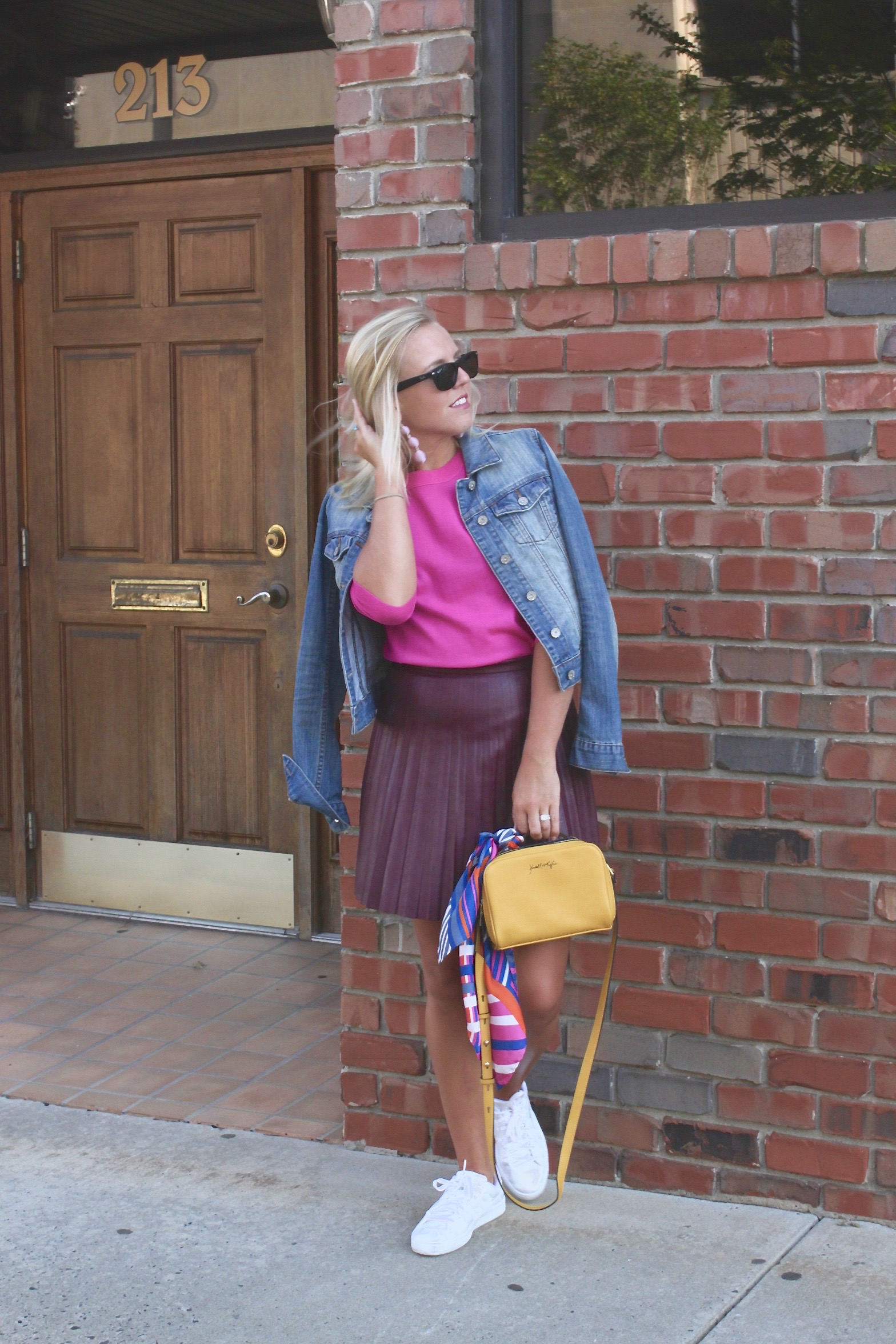 fall style pleated skirt