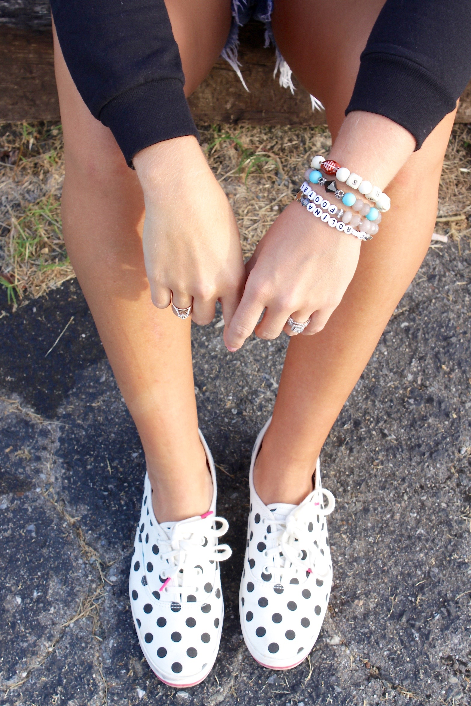 polka dot shoes game day style