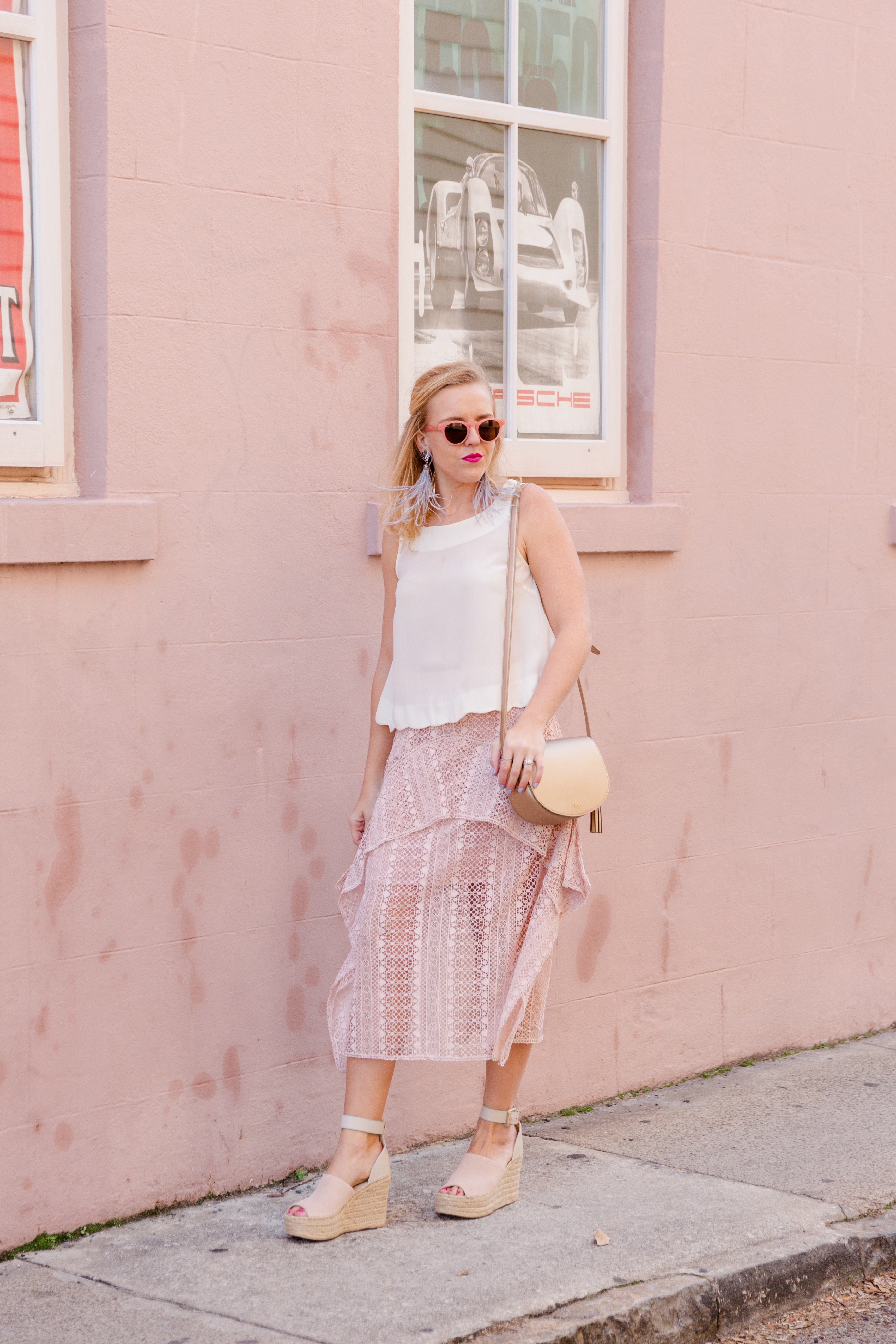 Valentine's Date Night Outfit Crop Top and Skirt