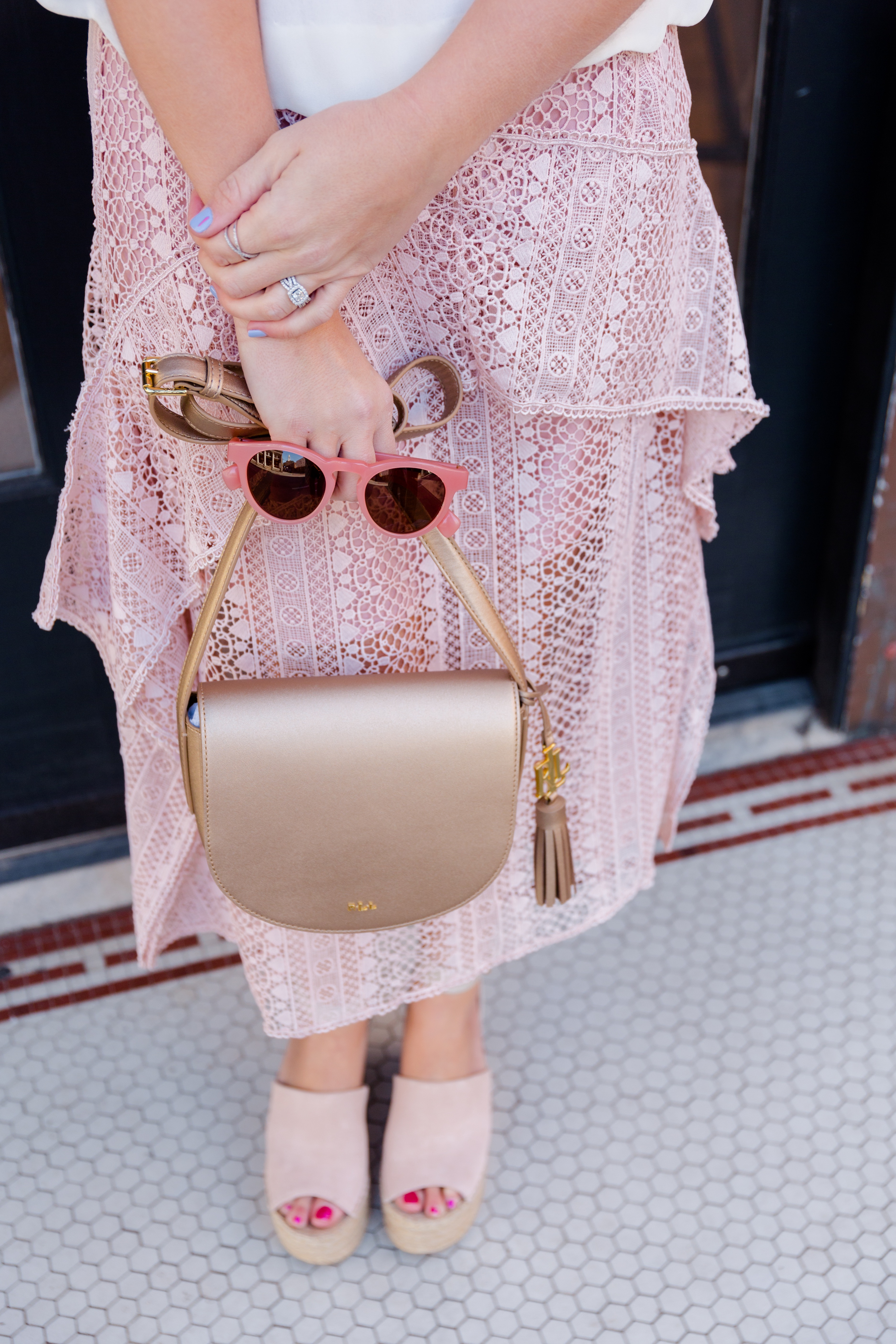 Valentine's Date Night Outfit Pink Accessories