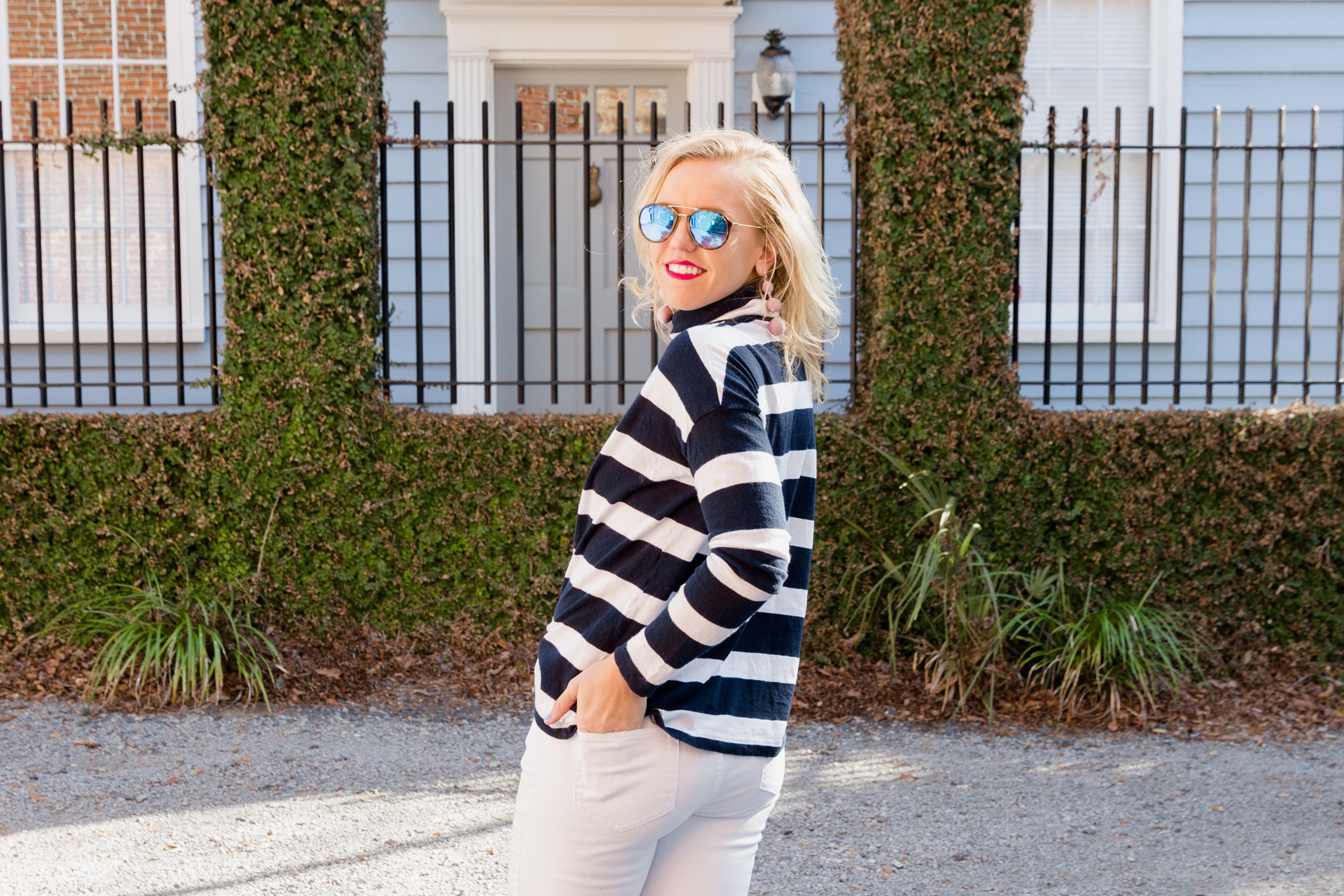Nautical Stripe spring Outfit Reese's Hardwear
